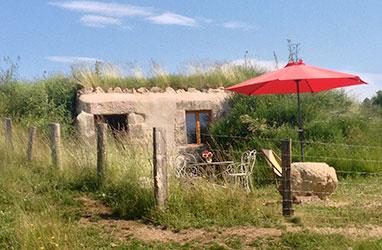 Cabanes sous terre - cabane du berger