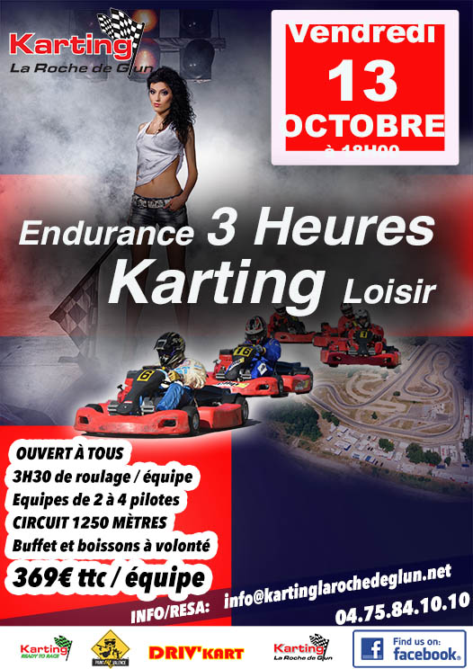 affiche course karting